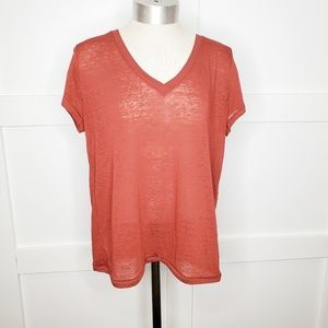 Urban Outfitters Rust Tee Shirt Small Burnout